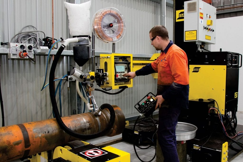 New Large Submerged Arc Welding at K & R Hydraulics
